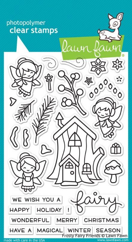 LF1224 ~ FROSTY FAIRY FRIENDS ~ CLEAR STAMPS BY LAWN FAWN